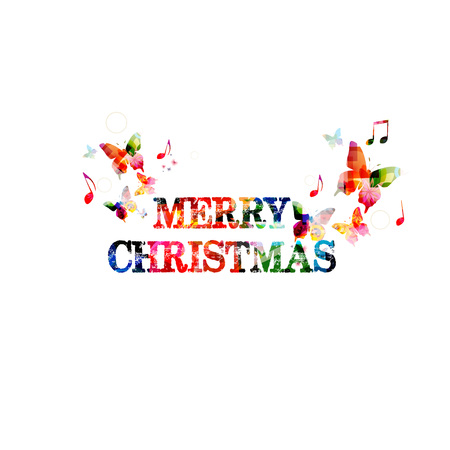 inscription: Colorful Merry Christmas inscription Illustration