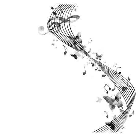 music notes vector: Music notes background