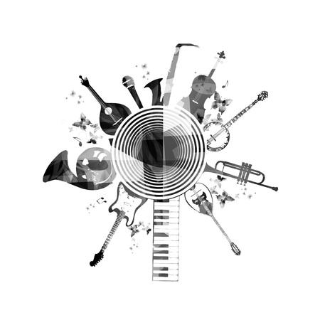 instruments de musique: Instruments de musique de fond Illustration