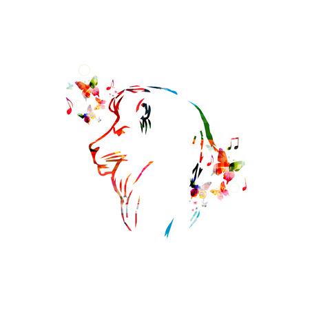 head close up: Colorful lion head close up