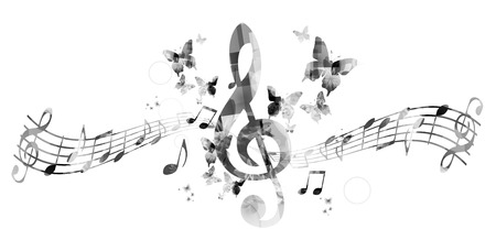 music background: Music notes background