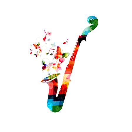 violoncello: Colorful violoncello and saxophone design