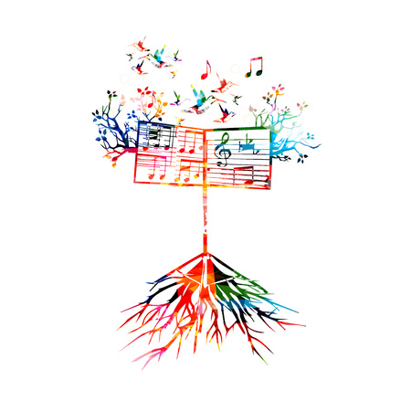 lectern: Colorful background with music stand