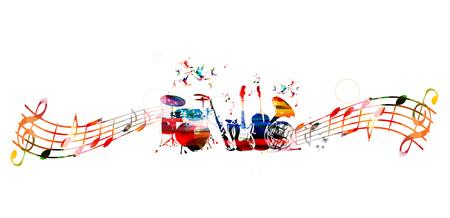 Kolorowe tło instrumenty muzyczne