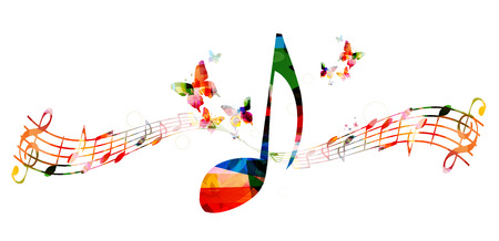 notes music: Colorful background with music notes