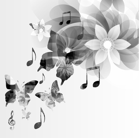 abstract music: Music notes background