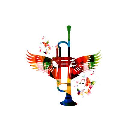 날개를 가진 다채로운 나팔
