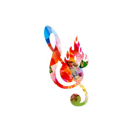 火の G 音部記号