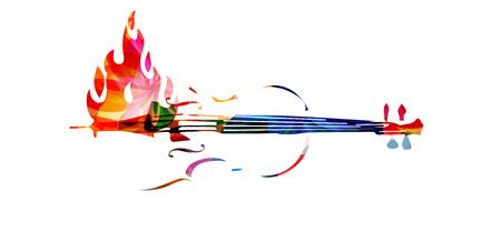 violoncello: Violoncello on fire Illustration