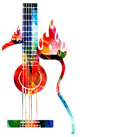 Gitarre auf Feuer