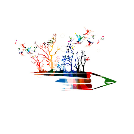 creative writing: Creative writing concept Illustration