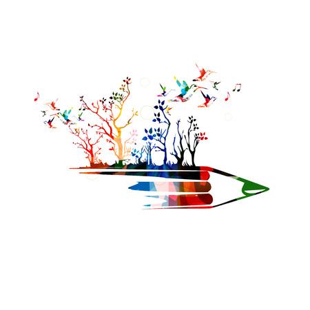 Creative writing concept Illustration