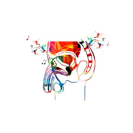 apparato riproduttore: Illustrazione vettoriale del sistema riproduttivo maschile colorata raccolti da vari elementi di ornamento del fiore e decorato con colibrì