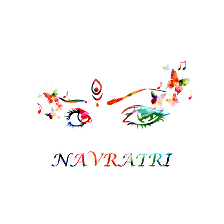 Indian festival Navratri celebration vector illustration Illustration