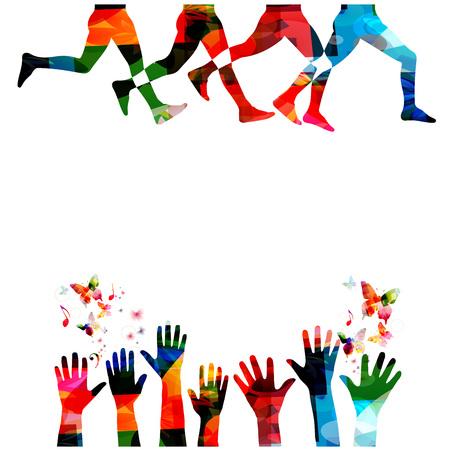 分離された人々 のシルエットと実行しています。スポーツ、フィットネス、ランニング、ジョギング、活動的な人、訓練、レクリエーション活動、
