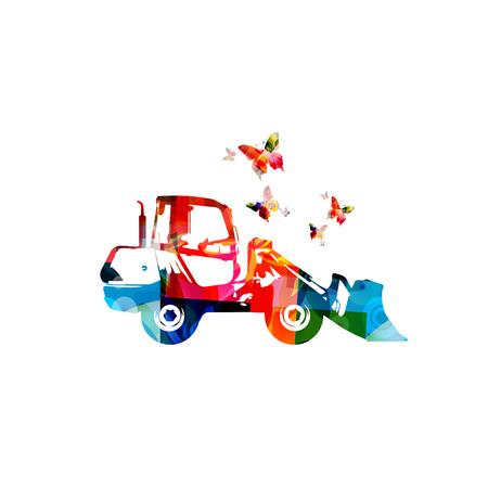 Machine à chargeur coloré isolé illustration vectorielle Banque d'images - 81228021