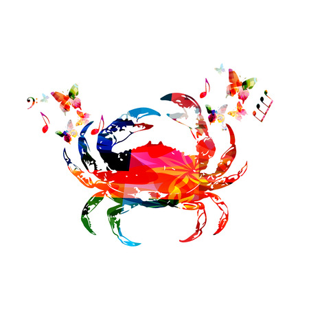 Crab, seafood vector illustration design isolated. Colorful crab isolated for restaurant poster, restaurant menu, fish food, seafood cuisine Illustration