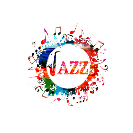 Colorful jazz banner.