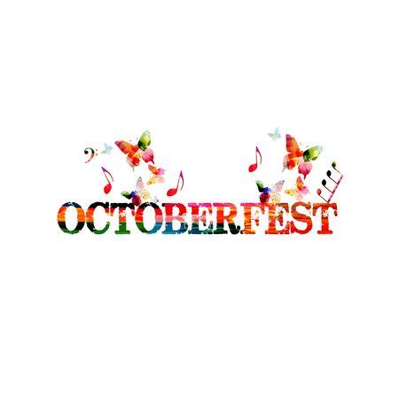 다채로운 옥 토 버 페스트 배너입니다.