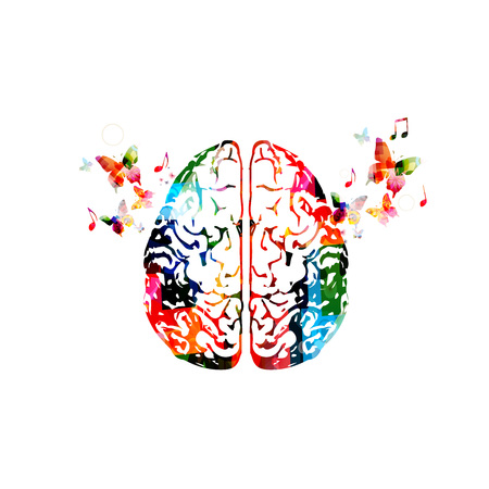 Colorful human brain illustration.