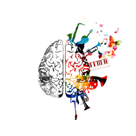 Musik-Design-Illustration. Standard-Bild - 85980661
