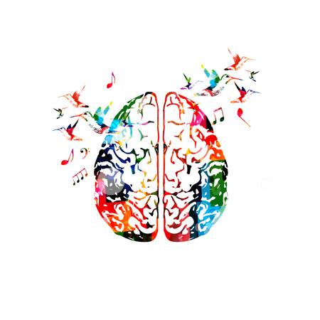 Ilustracja kolorowy ludzki mózg. Ilustracje wektorowe