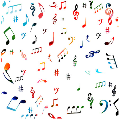 Music symbols seamless background design.
