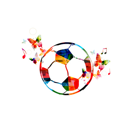 Football 2018 World Championship colorful vector illustration background