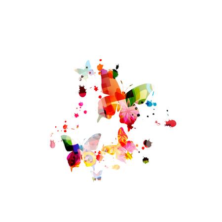 Colorful butterflies isolated vector illustration design Stock Illustratie