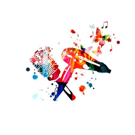 Fond d'outils de coiffure. Brosse à cheveux colorée et conception d'illustration vectorielle de sèche-cheveux pour salon de beauté et de coiffure