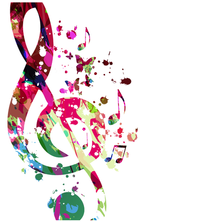 Music  with colorful music notes