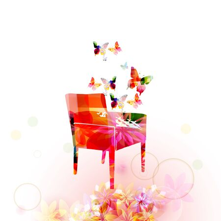 Colorful armchair isolated vector illustration design. Modern interior element, stylish interior decoration, home decor and furniture