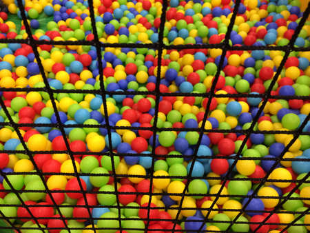 ball pool behind net photo
