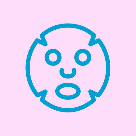 Facial mask flat icon. Medicine, cosmetology and health care Stock Illustratie