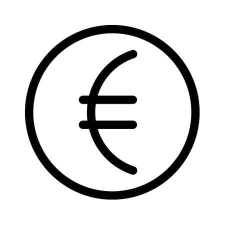 Euro vector icon in flat design. Vector illustration of the euro symbol. Ilustración de vector