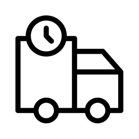 Fast delivery car icon, fast delivery, fast moving, line symbol on white background Illustration