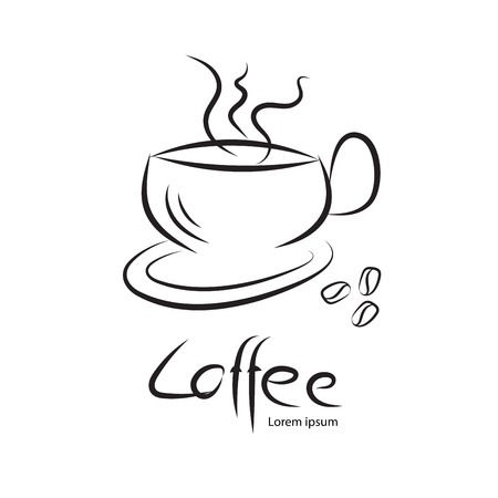 Coffee cup vector, icon design, web icon, business sign