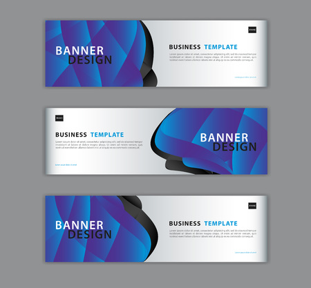 Blue banner design template vector illustration, Geometric, polygon background, texture, advertisement layout, web page, header for website. Graphic for billboard. gift voucher, card. Vector Illustratie