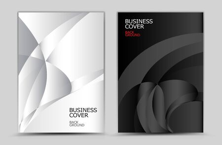 Black and white Polygon background vector, Book, cover design, annual report, business flyer, web texture, graphic design elements