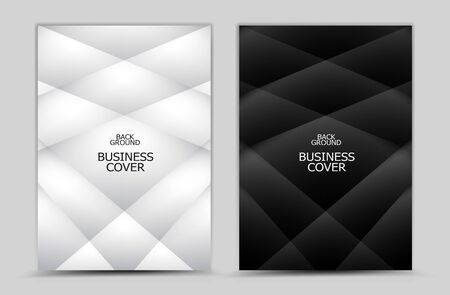 Business cover design, Black and white Polygon background vector, Book cover, annual report, brochure flyer, web texture, graphic design elements