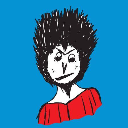 Man character vector design, Boy teen cartoon, isolated object, hand drawn Bearded man