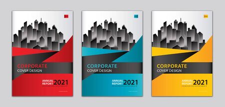 Corporate cover design template Can be adapt to annual report, presentation, Portfolio, business brochure flyer, book cover, poster, banner, website. abstract background. a4 size Standard-Bild - 146586331