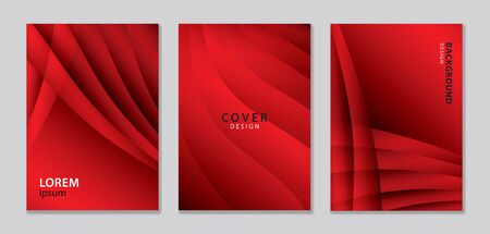 Abstract vector covers design template. Red cover template. gradient background. Background for decoration presentation, brochure, catalog, poster, book, magazine, banner, web page Illustration