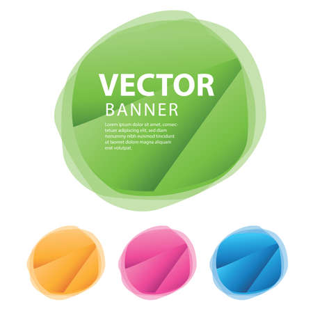 Set of round colorful vector shapes, sale banner, sticker, label, icon, buttons, tags, promotion banner, marketing, Design elements for business Standard-Bild - 152732700