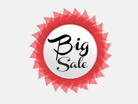 Big sale banner Vector illustration, web banner, discount icon