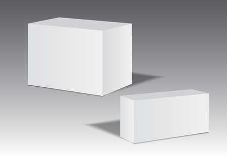 White 3D packaging box vector illustration, packaging design, product design Illustration