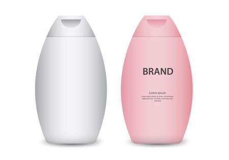 Bottle Shampoo Packaging Isolated set vector illustration, packaging design, product design Illustration