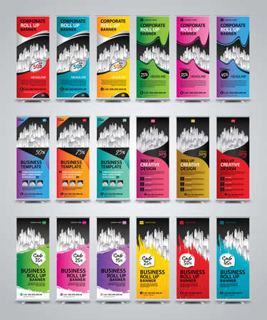 Collection vertical banners template Illustration
