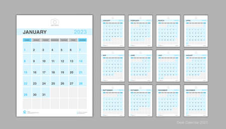 Calendar 2023 template Vector