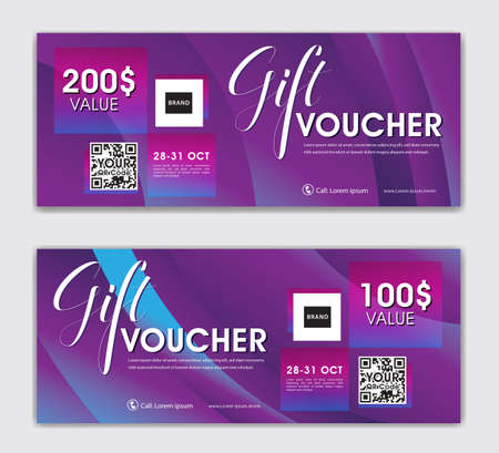 Luxury gift vouchers card design, Modern discount coupon or certificate layout, Purple Gift Voucher template,  discount card, Sale banner, headers, banner design, gift card, Vector Illustration EPS10
